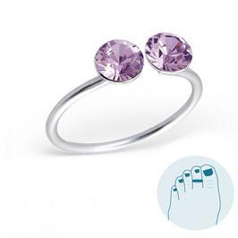 Silver Toe Ring Violetta