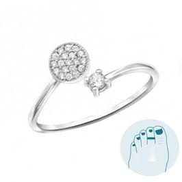 Silver Toe Ring Vanessa