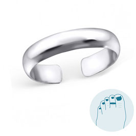 Silver Toe Ring Helima