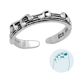 Silver Toe Ring Musicline