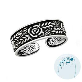 Silver Toe Ring Rosa