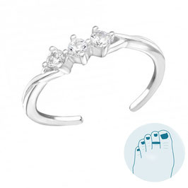 Silver Toe Ring Faith