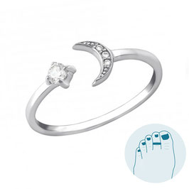 Silver Toe Ring Moonstar