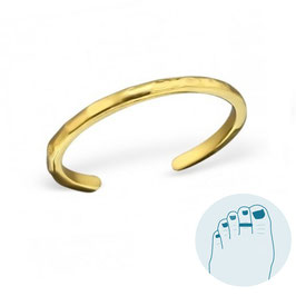 Silver Toe Ring Amanda Gold