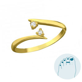 Silver Toe Ring Elly gold