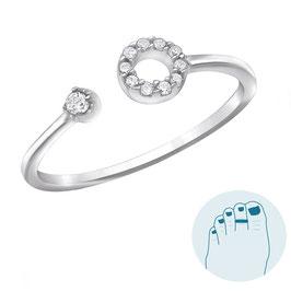 Silver Toe Ring Yasmin