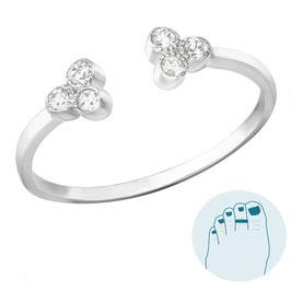 Silver Toe Ring Bibi
