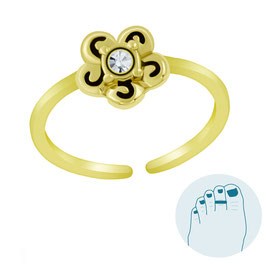 Silver Toe Ring Flory Gold
