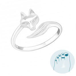 Silver Toe Ring Foxy