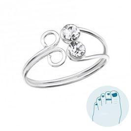 Silver Toe Ring Ingrid