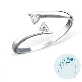 Silver Toe Ring Elly