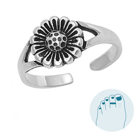 Silver Toe Ring Daisy