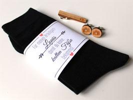 Hochzeitssocken für den Bräutigam gegen kalte Füße mit Namen Bräutigamgeschenk Herz