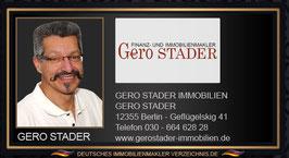 GERO STADER IMMOBILIENMAKLER BERLIN MAKLEREMPFEHLUNG