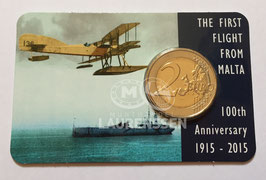 2 euro Malta 2015 BU 'Vlucht vanaf Malta' in coincard