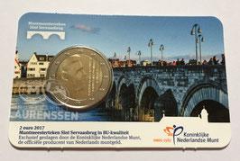 2 euro Nederland 2017 BU 'Sint Servaasbrug' in coincard