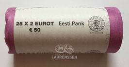 Muntrol 2018 2 euro Estland 'Kaart van Estland' 25x 2 euro in rol