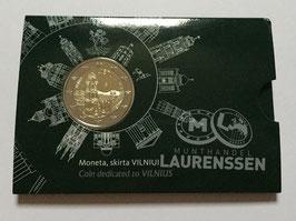2 euro Litouwen 2017 BU 'Vilnius' in coincard