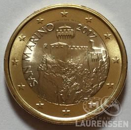 1 euro San Marino 2017 UNC 'de La Cesta Toren'