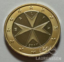 1 euro Malta 2017 BU 'Malteser Kruis' met muntteken F