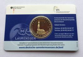 2 euro Duitsland 2008 Proof letter J 'Hamburg' in coincard