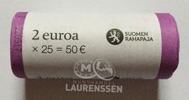 Muntrol 2017 2 euro Finland '100 jaar Onafhankelijkheid' 25x 2 euro in rol