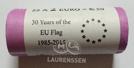 Muntrol 2015 2 euro Malta '30 jaar Europese Vlag' 25x 2 euro in rol