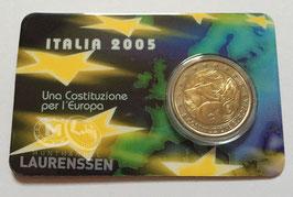 2 euro Italië 2005 UNC 'Europese Grondwet' in coincard