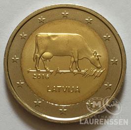 2 euro Letland 2016 UNC 'Koe - Letse Melkindustrie'