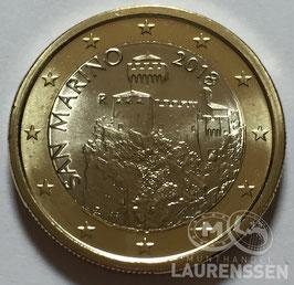 1 euro San Marino 2018 UNC 'de La Cesta Toren'