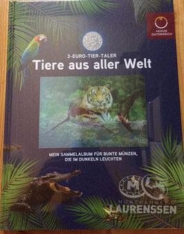 Verzamelalbum voor alle 3 euromunten Oostenrijk Tier-Taler serie (2016 - 2019)