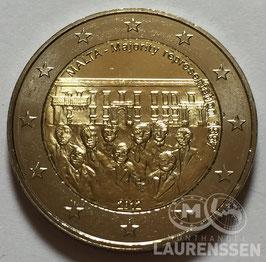 2 euro Malta 2012 UNC '125 jaar Stemrecht'