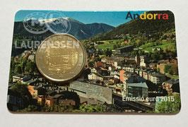 2 euro Andorra 2015 UNC 'Wapen van Andorra' in coincard