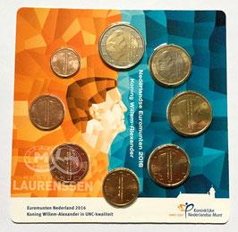 Euromunten Nederland 2016 UNC (1 cent - 2 euro) in coincard