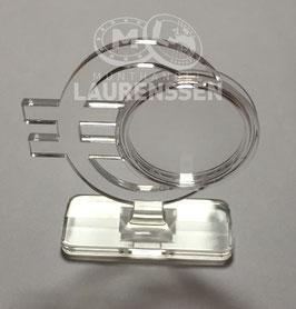 Muntstandaard voor het presenteren van een 2 euro in capsule