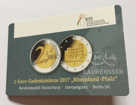 2 euro Duitsland 2017 BU letter A 'Porta Nigra' in coincard