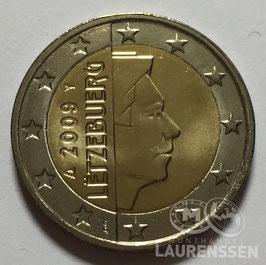 2 euro Luxemburg 2009 UNC 'Groothertog Henri'