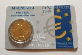 2 euro Griekenland 2004 UNC 'Olympische Zomerspelen in Athene' in coincard
