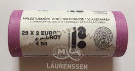 Muntrol 2018 2 euro Estland '100 jaar Republiek' 25x 2 euro in rol
