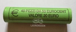 Muntrol 2018 50 cent San Marino 'Marinus van Rimini' 40x 20 eurocent in rol