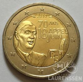 2 euro Frankrijk 2010 UNC 'Charles de Gaulle'