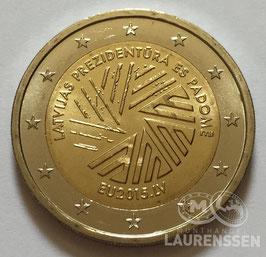 2 euro Letland 2015 UNC 'Voorzitterschap EU'