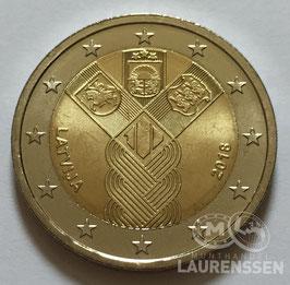 2 euro Letland 2018 UNC 'Onafhankelijkheid Baltische Staten'