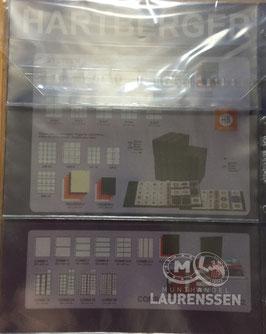 Hartberger S-3 bladen 3-vaks voor bijv. bankbiljetten (5 stuks)