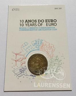 2 euro Portugal 2012 BU '10 jaar Euro' in coincard