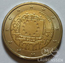 2 euro Portugal 2015 UNC '30 jaar Europese Vlag'