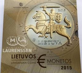 Proof set Litouwen 2015 (1 cent - 2 euro + gekleurde penning) in blister