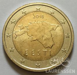 2 euro Estland 2018 UNC 'Kaart van Estland'