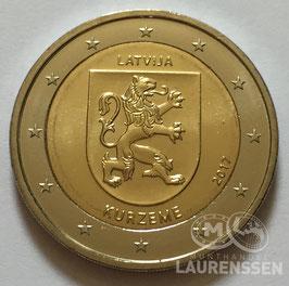 2 euro Letland 2017 UNC 'Provincie Kurzeme'