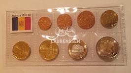 BU set Andorra 2016 (1 cent - 2 euro) in opbergstrip